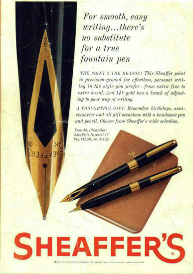 Early Sheaffer Imperials 1961 1962
