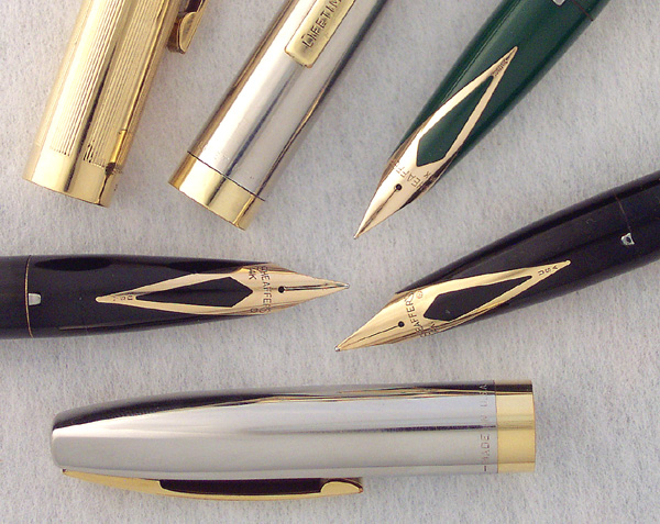 Sheaffer/'s Vintage Fountain Pen /& Pencil Set in Black with Chrome Caps